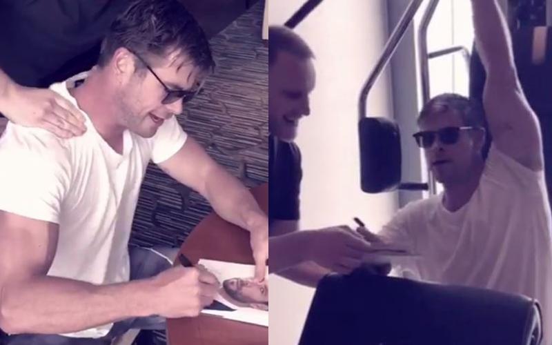 雷神索爾被嗆「簽名照不是親自簽的」  霸氣錄影證明「連洗澡也在簽」放福利粉絲樂歪