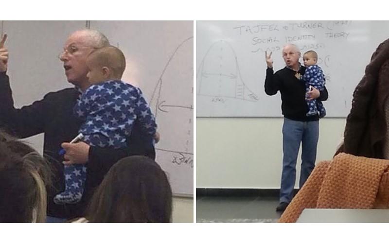 年輕女學生帶寶寶來上課...課堂傳出響亮哭聲  教授「這個動作」超暖:這才叫教育