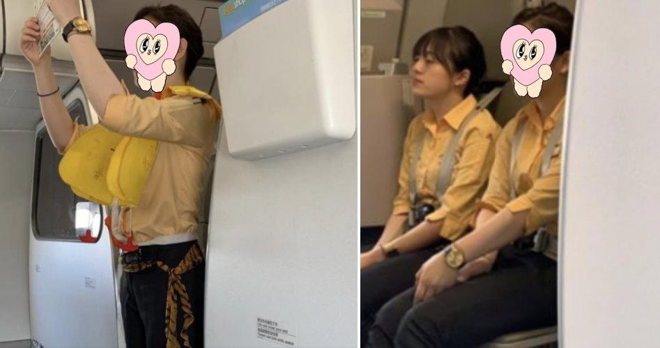 虎航空姐好正!宣導飛安側臉「大眼櫻桃嘴」顏值高又甜:捨不得下飛機!