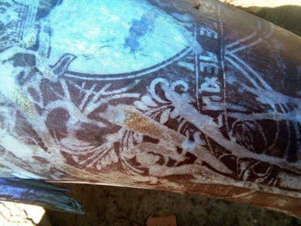 這邊是菲律賓漁民捕獲了「全身刺青的怪魚」引發熱議,仔細看上面的圖騰...起雞皮疙瘩了!圖片的自定義alt信息;545371,725398,K.R,67